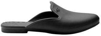 Berts Beach Slipper Black Flat Shoe