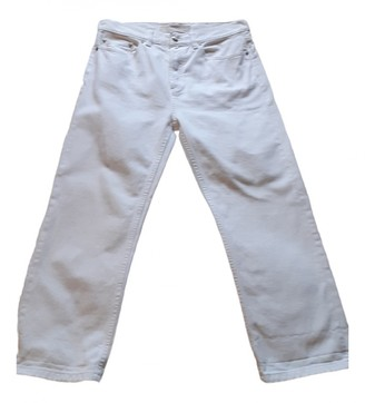 Marc by Marc Jacobs White Cotton Trousers