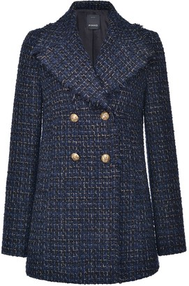 Pinko Tweed Double-Breasted Coat
