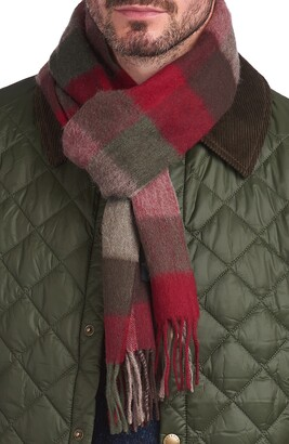 Barbour Lambswool Check Scarf