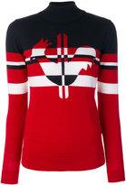 Rossignol Rooster stripes roll neck jumper