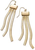 Thalia Sodi Gold-Tone Herringbone Fringe Drop Earrings, Created for Macy's