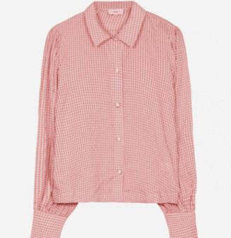 Margaux Peach Gingham Shirt