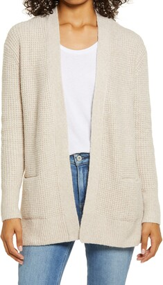 Caslon Open Front Cardigan Sweater