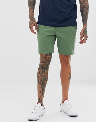 Original Penguin slim fit shorts in khaki green