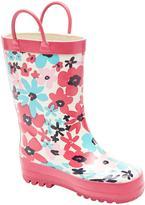 Sears Kids Floral Print Rain Boots