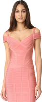 Herve Leger Lenore V Neck Top