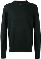 Maison Margiela - ribbed elbow patch sweater - men - Cotton/Calf Leather/Wool - XL