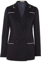 Bottega Veneta Wool-blend Blazer - Midnight blue
