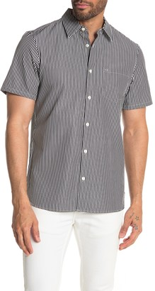 Calvin Klein Striped Short Sleeve Pocket Regular Fit Shirt