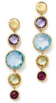 Marco Bicego 18K Yellow Gold Jaipur Multicolored Gemstone Drop Earrings