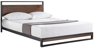 Overstock Twin size Metal Wood Platform Bed Frame with Headboard