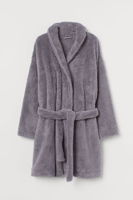 H&M Faux shearling dressing gown