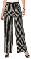 Rafaella Pinstripe Wide-Legged Pants