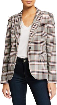 Derek Lam 10 Crosby Plaid One-Button Blazer w/ Pockets