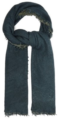 Allude Bi-colour Cashmere Scarf - Womens - Navy