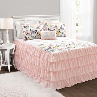 Lush Decor Flutter Butterfly Bedspread and Sham Set