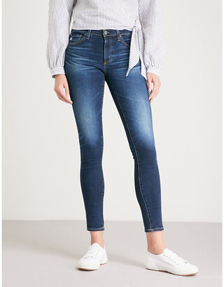 AG Jeans Ladies Blue The Legging Ankle Super Skinny Mid Rise Jeans, Size: 27