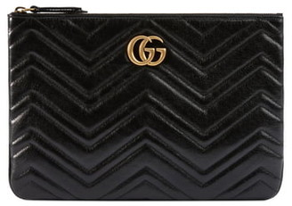 Gucci GG Marmont 2.0 Matelasse Leather Pouch