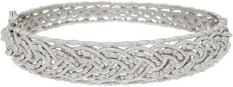 Sterling Silver Braided Hinged Bangle by Silver Style