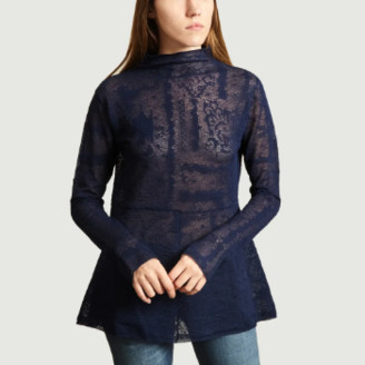 By Malene Birger Navy Blue Mauria Top - xs