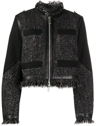 Sacai Tweed Cropped Jacket