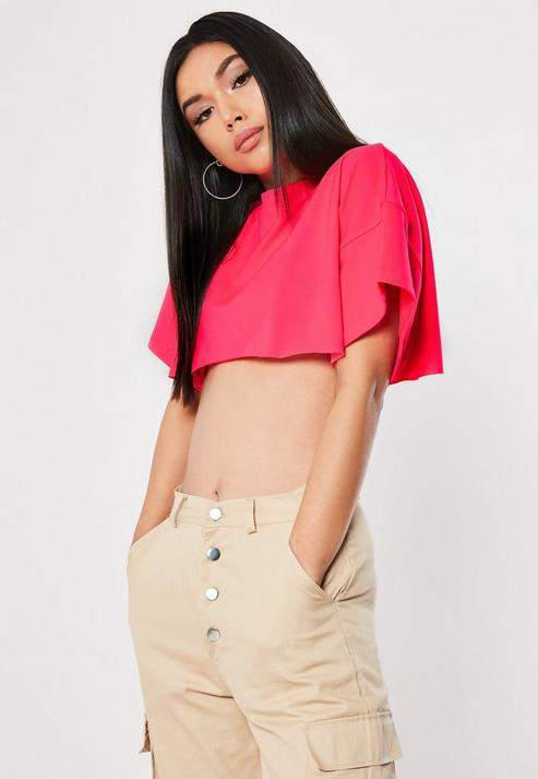 f14400cb1bd Neon Pink Crop Tops - ShopStyle