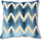 The Piper Collection Mary 22x22 Velvet Pillow, Blue