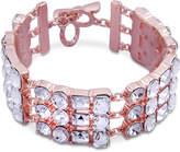 GUESS Rose Gold-Tone Crystal Link Bracelet