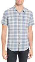 John Varvatos Men's Trim Fit Plaid Sport Shirt