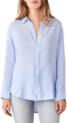 DL1961 Nassau & Manhattan Striped Button-Down Shirt