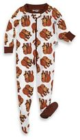 Eric Carle IntimoTM Zip Front Brown Bear Footed Pajama