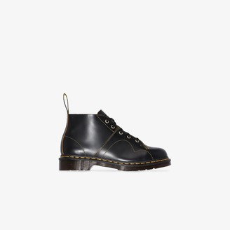 Dr. Martens black Church leather boots