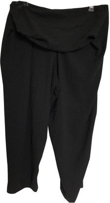 Anne Valerie Hash Black Polyester Trousers
