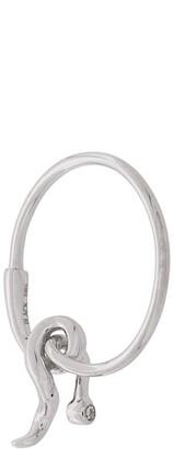 Maria Black 14kt white gold Fall diamond hoop earring