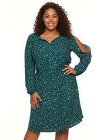 Apt. 9 Plus Size Cold-Shoulder Crepe Dress