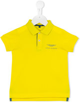 Aston Martin Kids - embroidered logo polo shirt - kids - Cotton - 9 mth