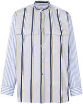 Odeeh striped mandarin collar shirt