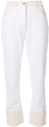 Ports 1961 Contrast-Panel Straight Leg Jeans