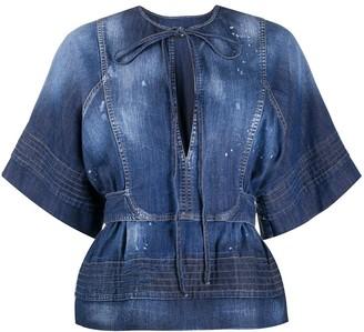 DSQUARED2 acid wash blouse