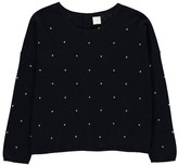 Des Petits Hauts Clenette Polka Dot Wool and Cashmere Jumper with Back Button Detail