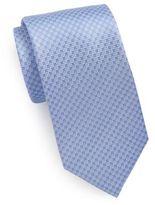 Saint Laurent Silk Diamond-Print Tie