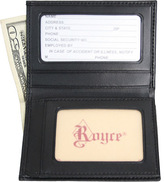 Royce Leather Men's Double ID Flip Credit Card Wallet 121-6