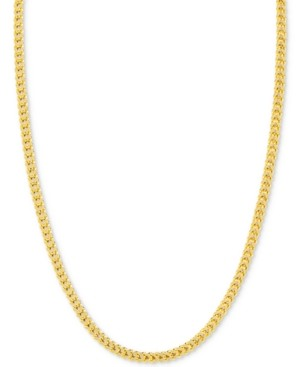 "Italian Gold 24"" Franco Chain Necklace in 14k Gold"