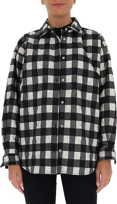MSGM Checked Quilted Overshirt