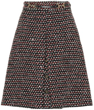 Gucci Sequined tweed skirt