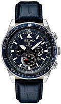 Seiko Chronograph Mens Blue Strap Watch-Ssc631