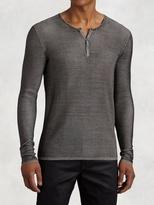 John Varvatos Silk Henley Sweater