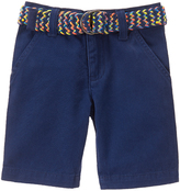 Crazy 8 Handsome Navy Belted Flat-Front Shorts - Infant & Toddler