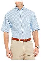 Daniel Cremieux Signature Heather Stripe Short-Sleeve Woven Shirt